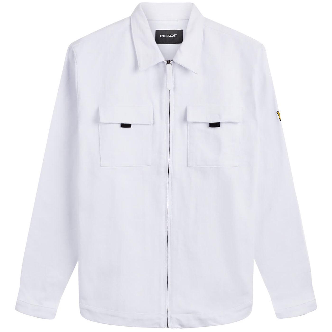 LYLE & SCOTT Zip Through Cotton Twill Overshirt W