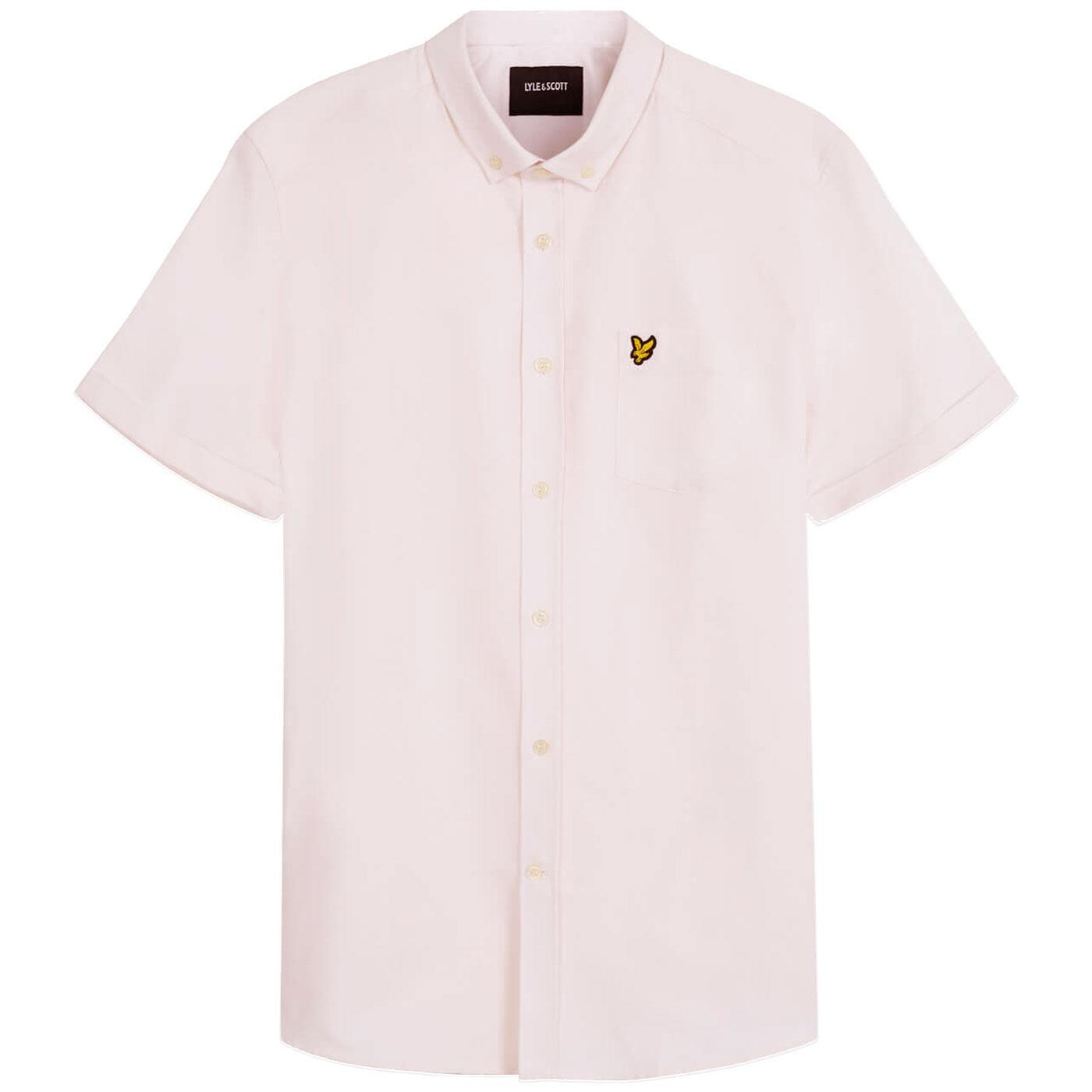LYLE & SCOTT Mens Mod S/S Oxford Shirt STRAWBERRY