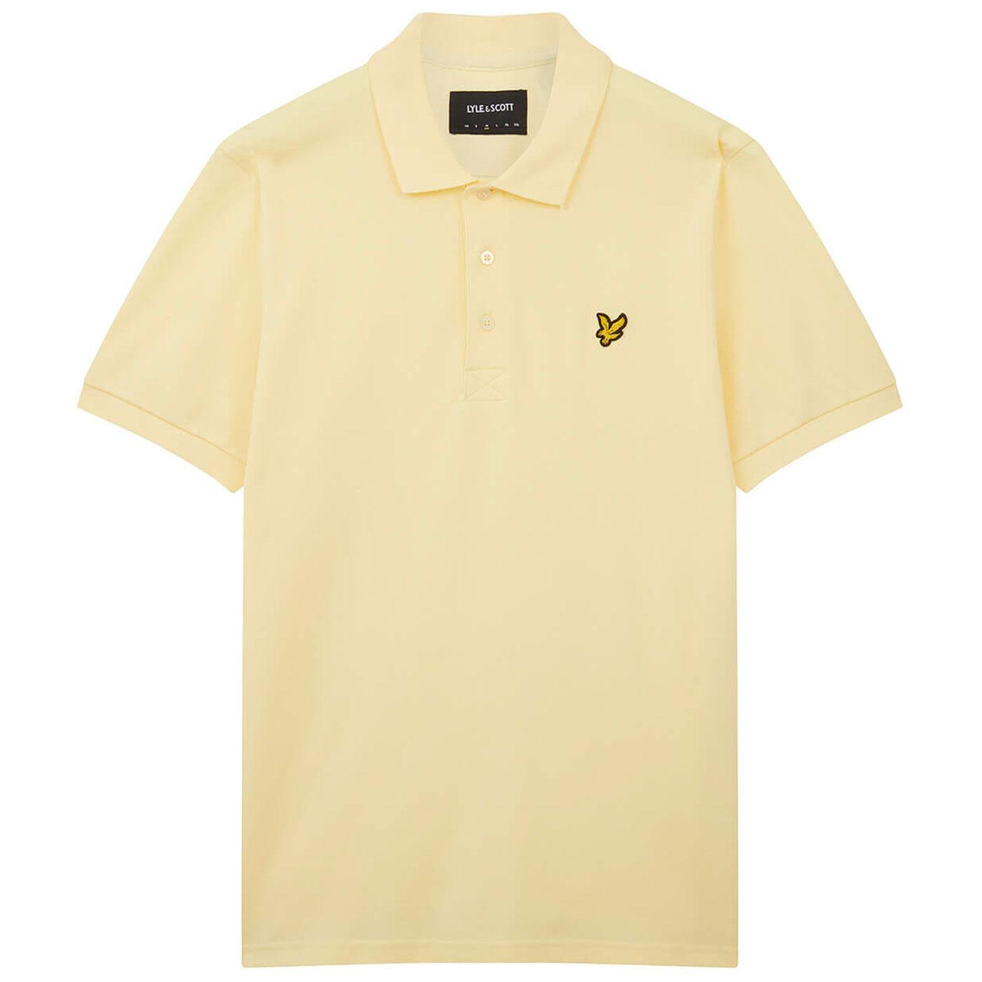 LYLE & SCOTT Mod Classic Pique Polo Shirt (Lemon)