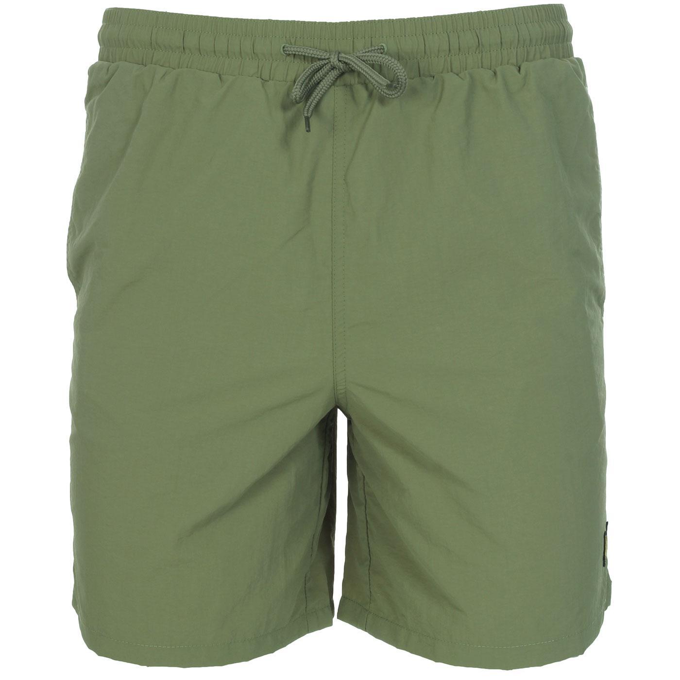 LYLE & SCOTT Men's Plain Retro Swim Shorts (Moss)