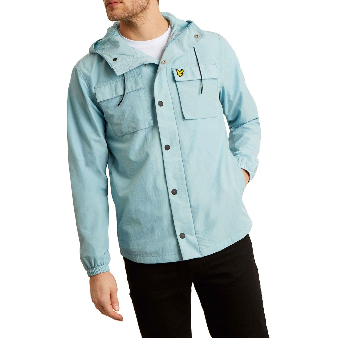 LYLE & SCOTT Retro Hooded Pocket Jacket BLUE SHORE