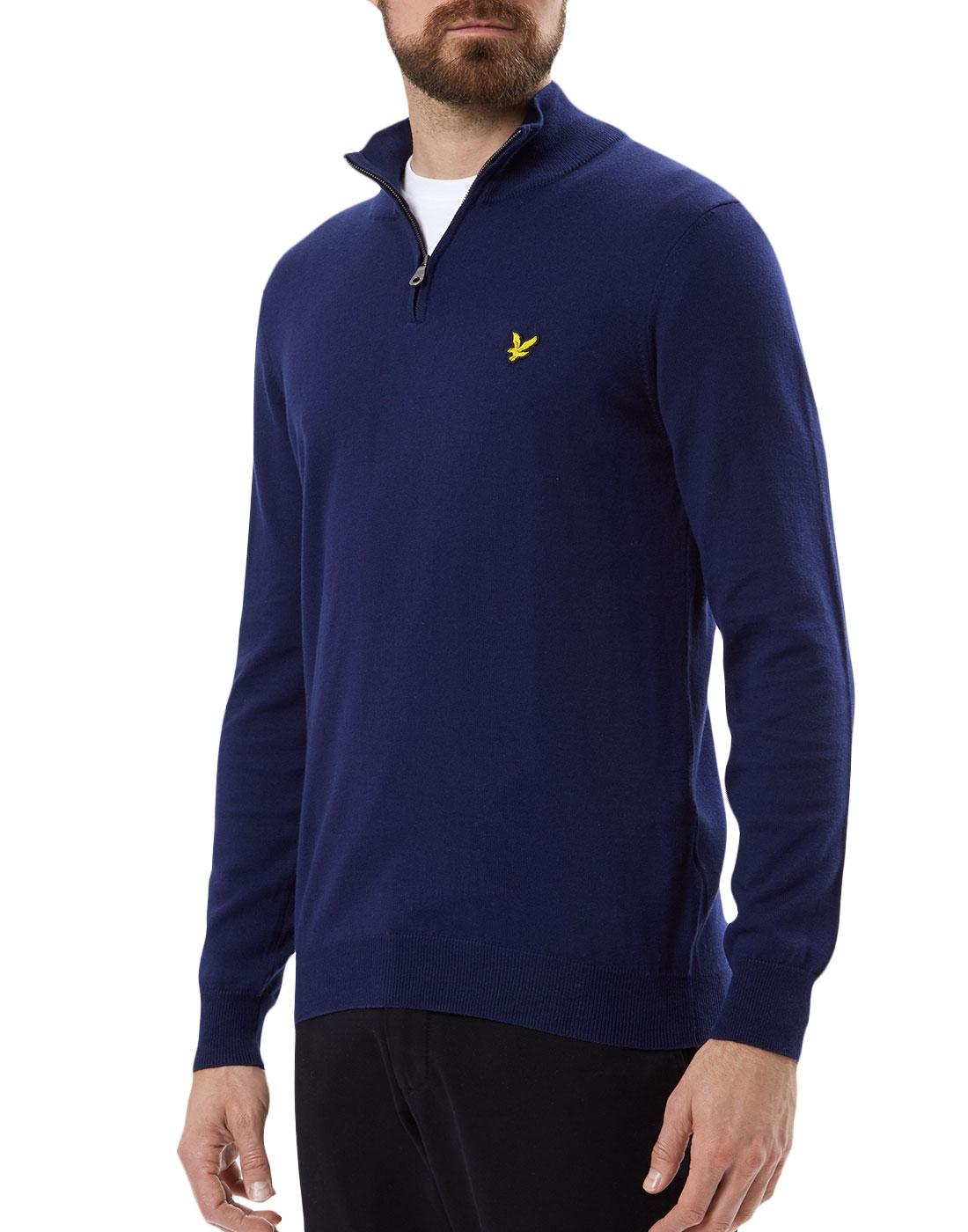 LYLE & SCOTT Mod 1/4 Zip Cotton Merino Knit Jumper