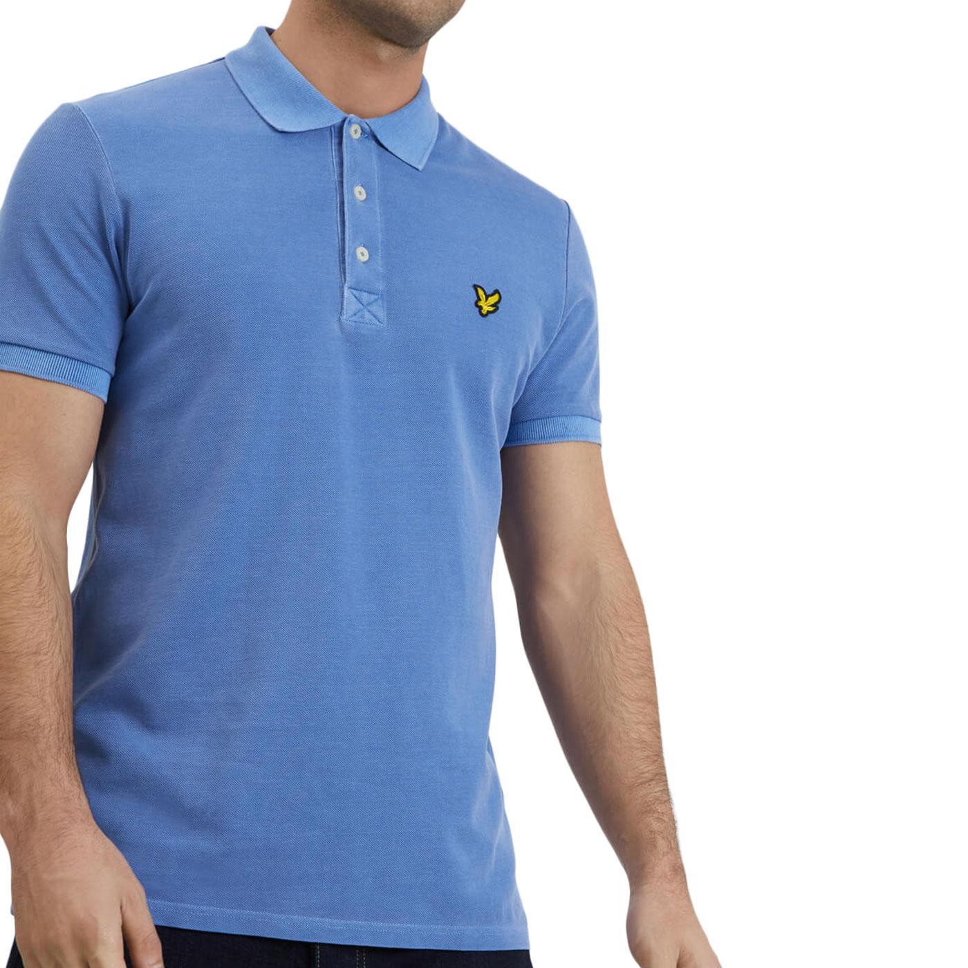 LYLE & SCOTT Mod Snow Wash Pique Polo Shirt (CB)