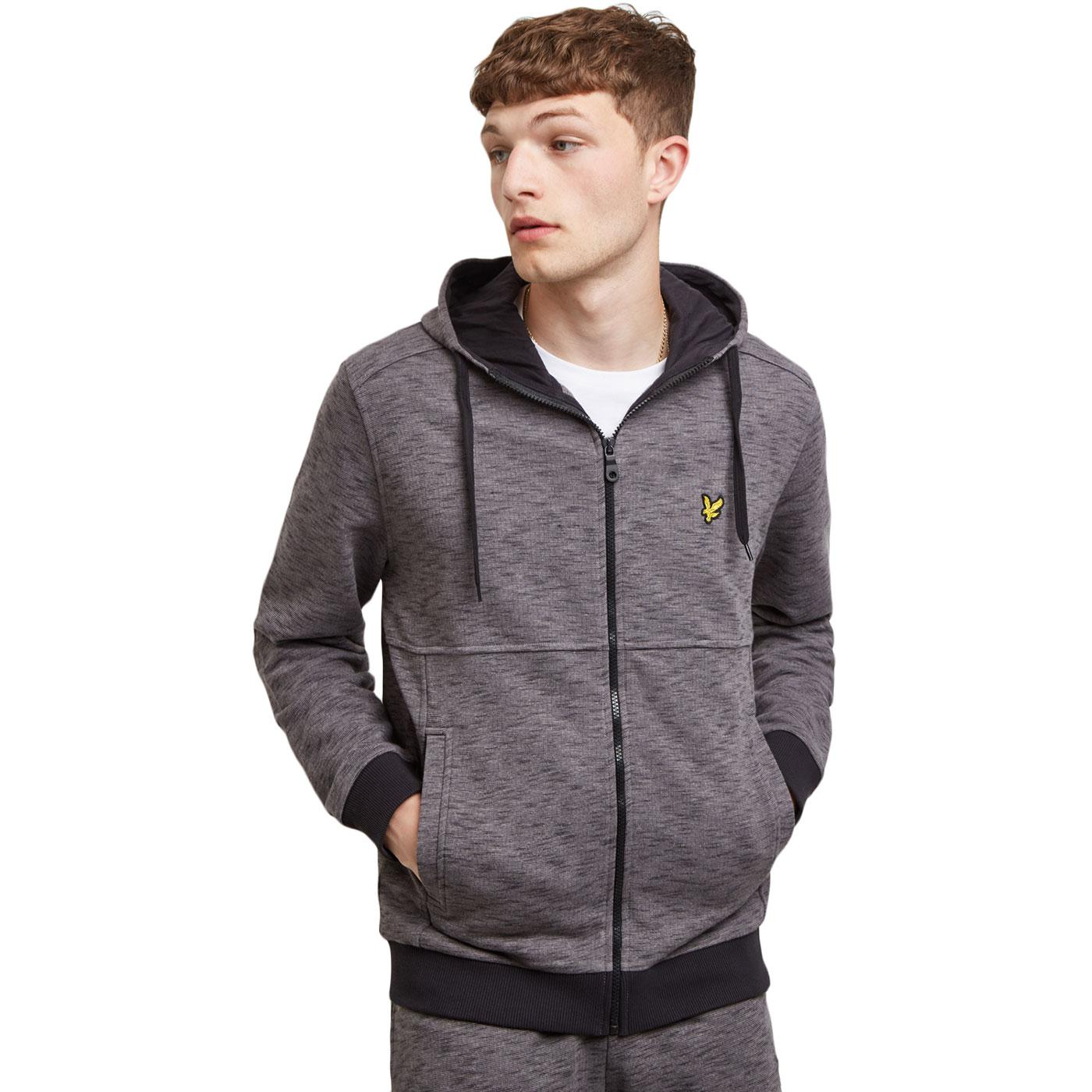 LYLE & SCOTT Retro Space Dye Zip Hooded Track Top
