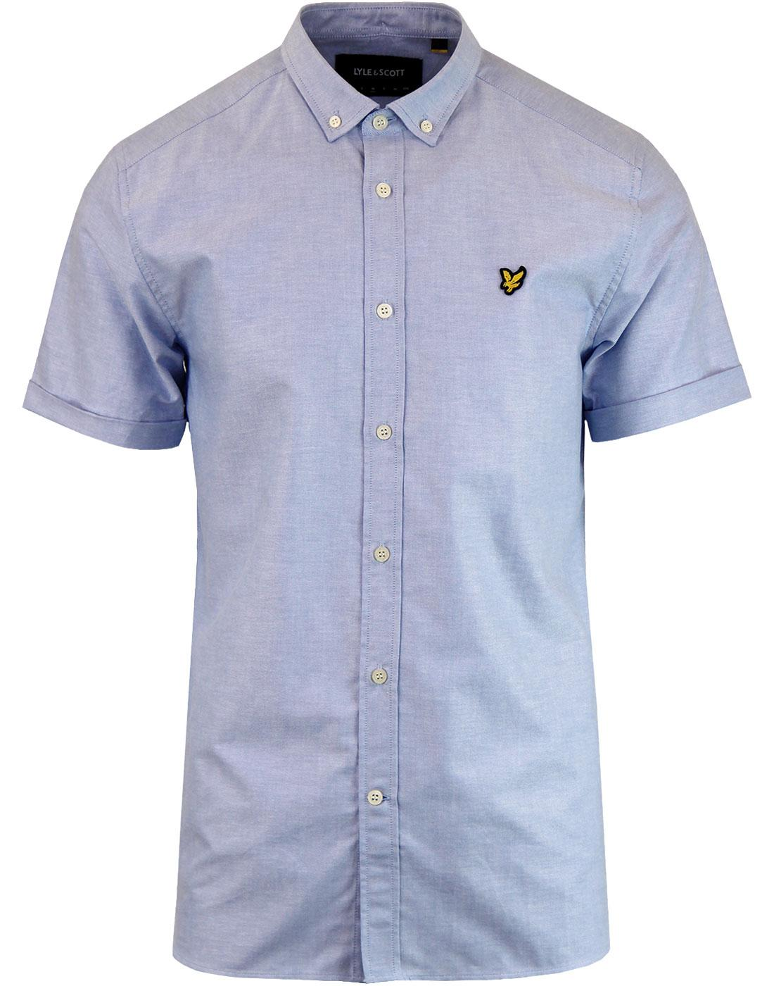LYLE & SCOTT Button Down SS Oxford Shirt RIVIERA