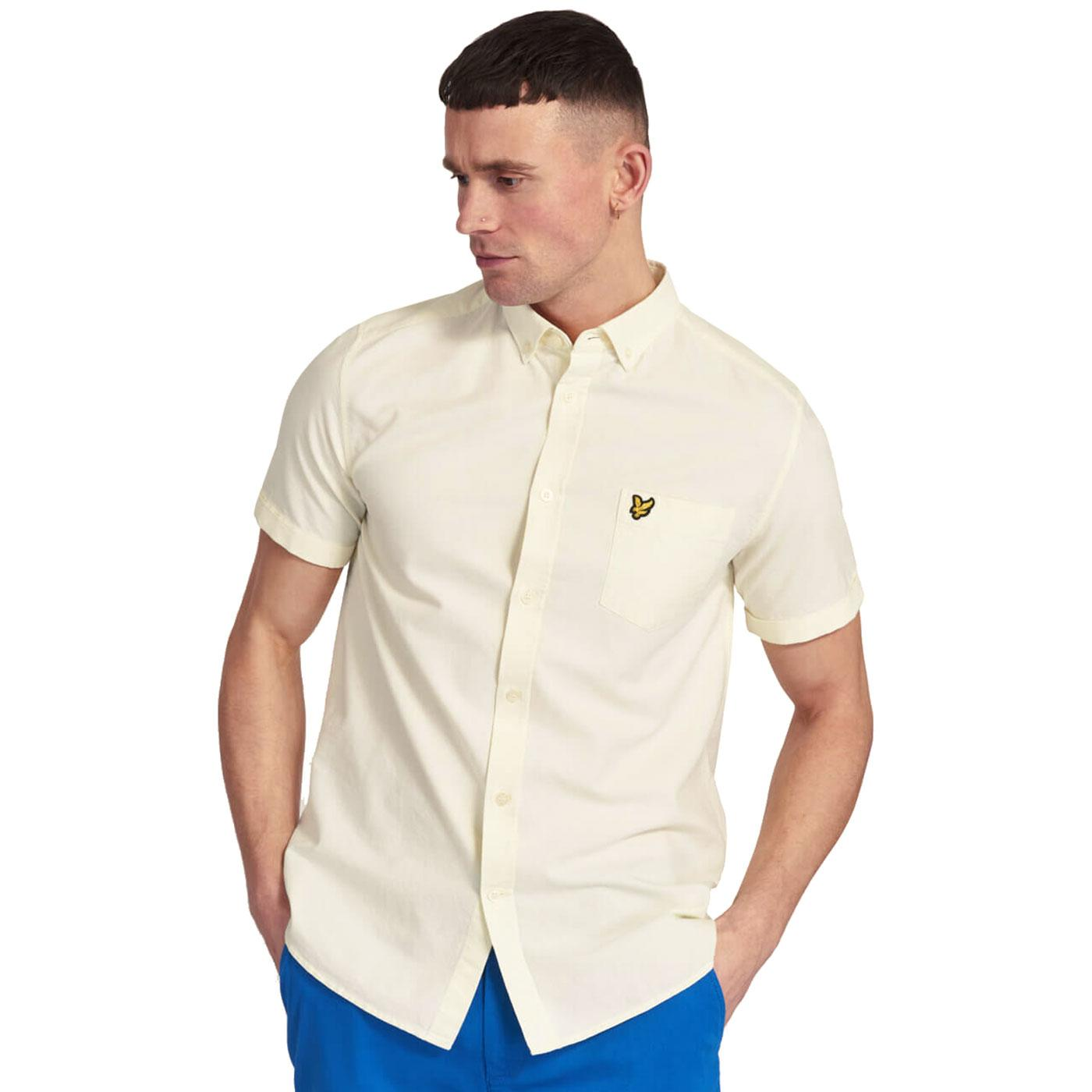 LYLE & SCOTT Mens Mod S/S Oxford Shirt BUTTERCREAM