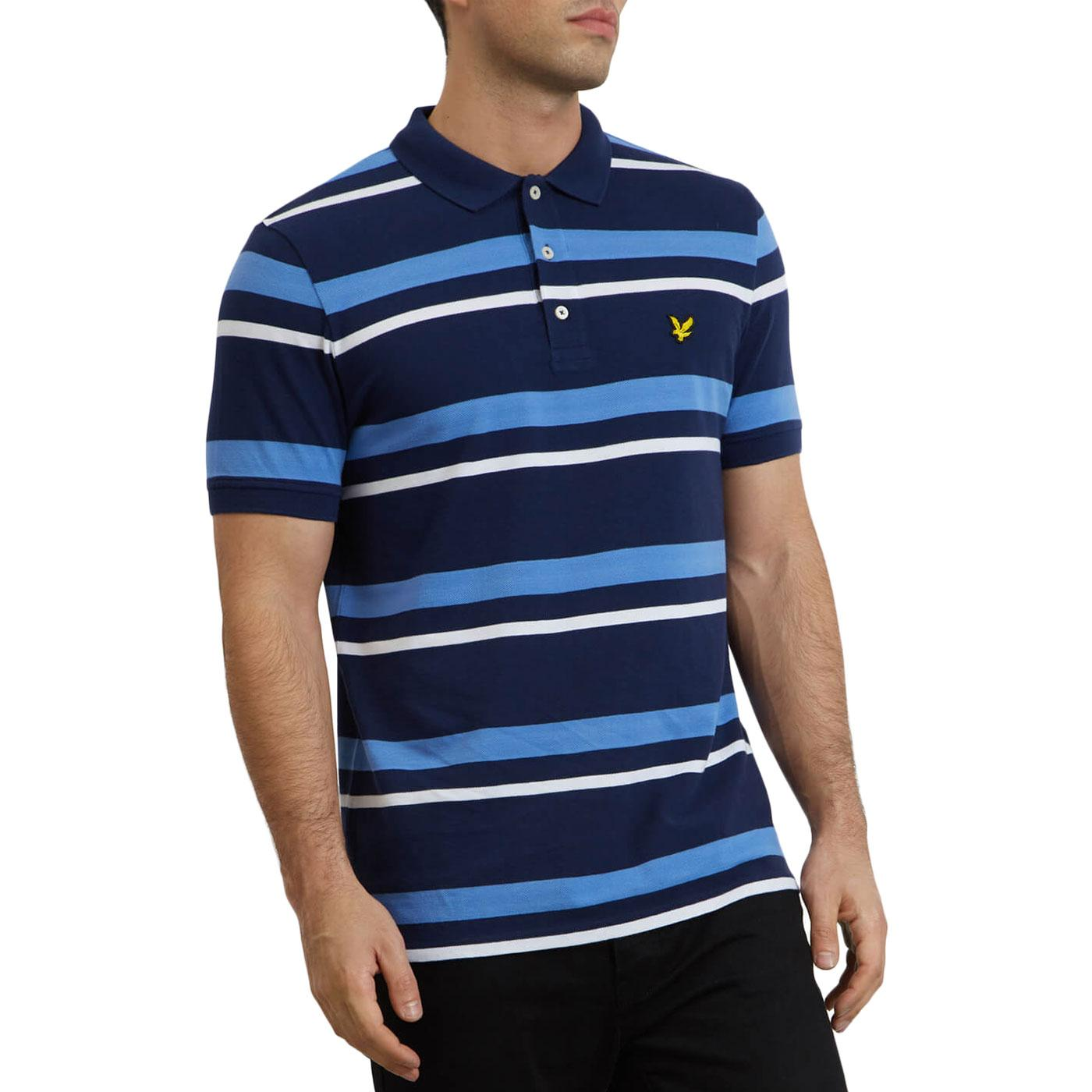 LYLE & SCOTT Retro Mod Stripe Pique Polo Shirt (N)