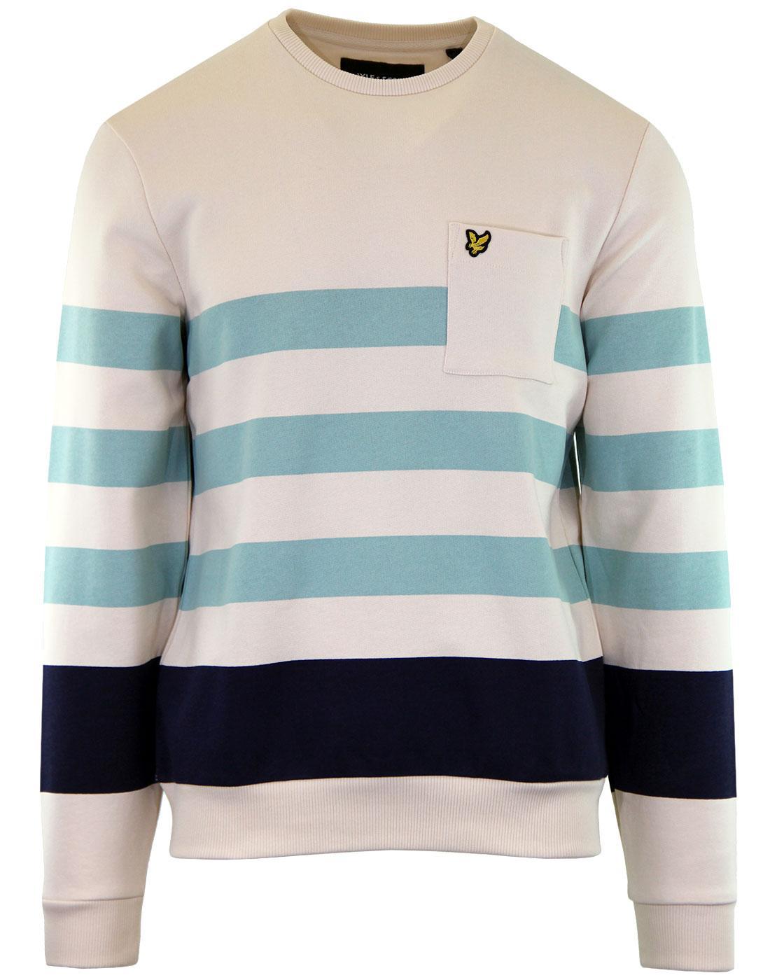 LYLE & SCOTT Men's Retro Indie Stripe Sweatshirt S