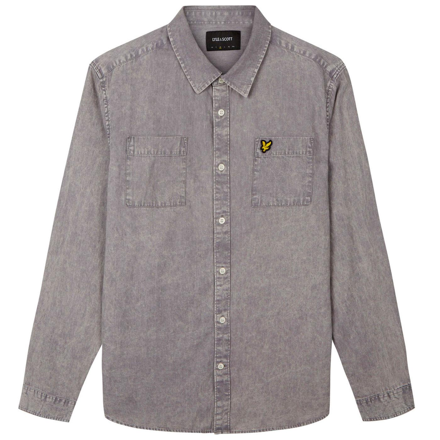 LYLE & SCOTT Retro Sun bleached Shirt DOLPHIN GREY