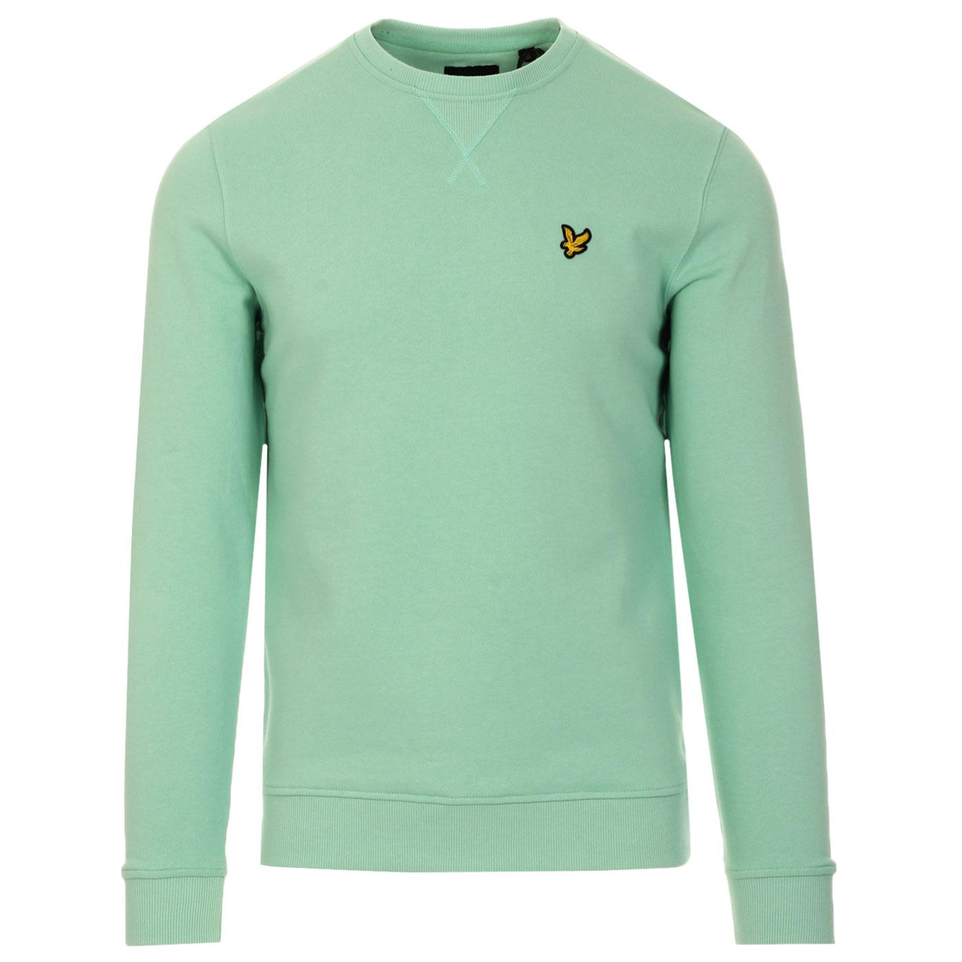 LYLE & SCOTT Men's Retro Crew Neck Sweatshirt MINT