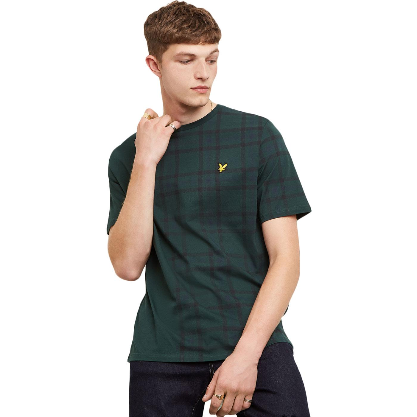 LYLE & SCOTT Retro 70s Tartan Block Check Tee (JG)