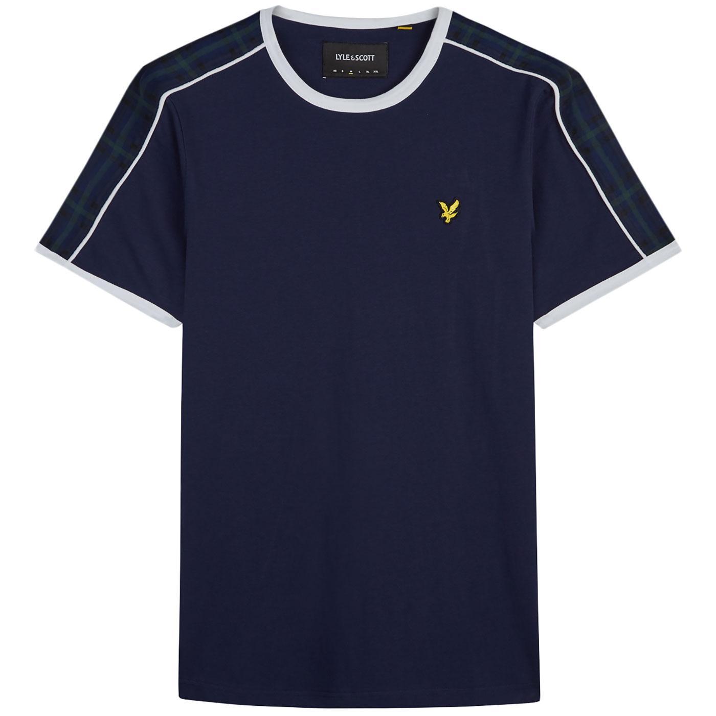 LYLE & SCOTT Retro Taped Sleeve Ringer T-Shirt (N)
