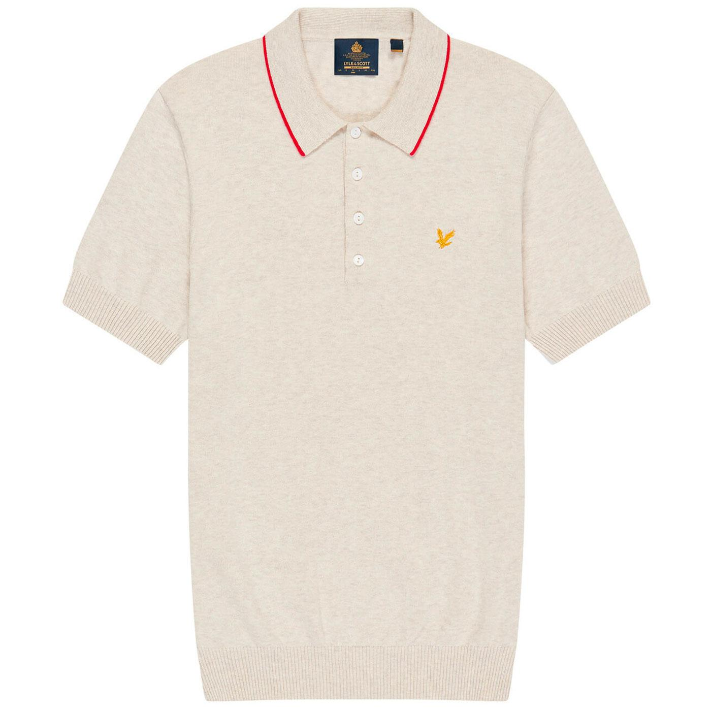LYLE & SCOTT Archive Mod Tipped Knitted Polo (VI)