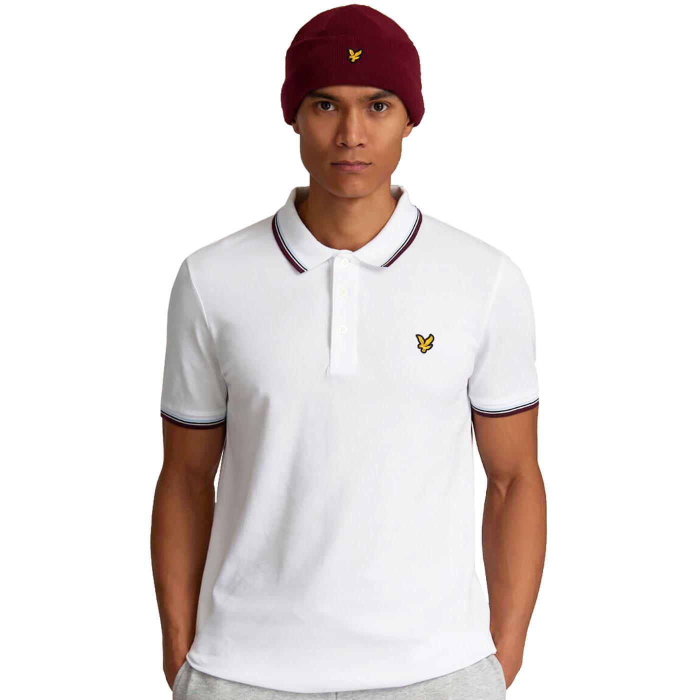 LYLE & SCOTT Men's Mod Tipped Pique Polo Shirt W/B