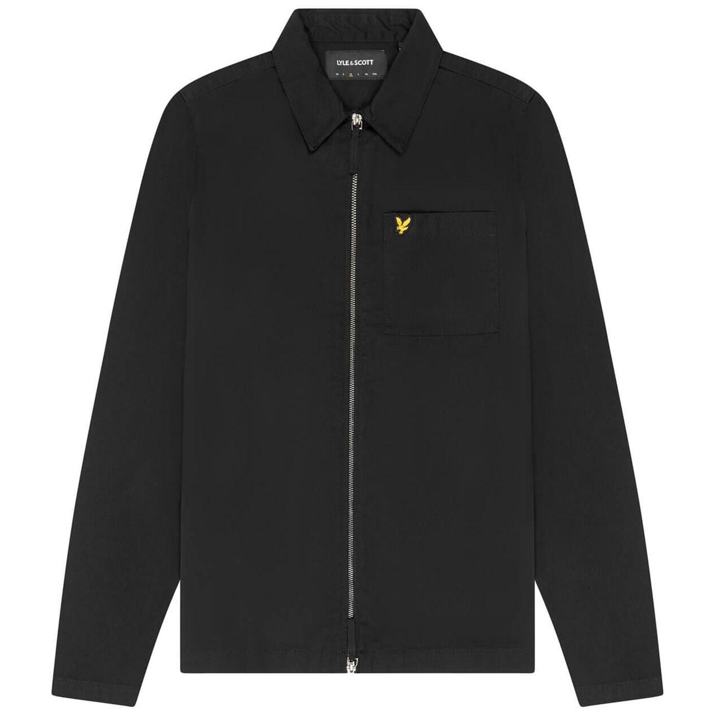 LYLE & SCOTT Mod Zip Through Twill Overshirt (JB)