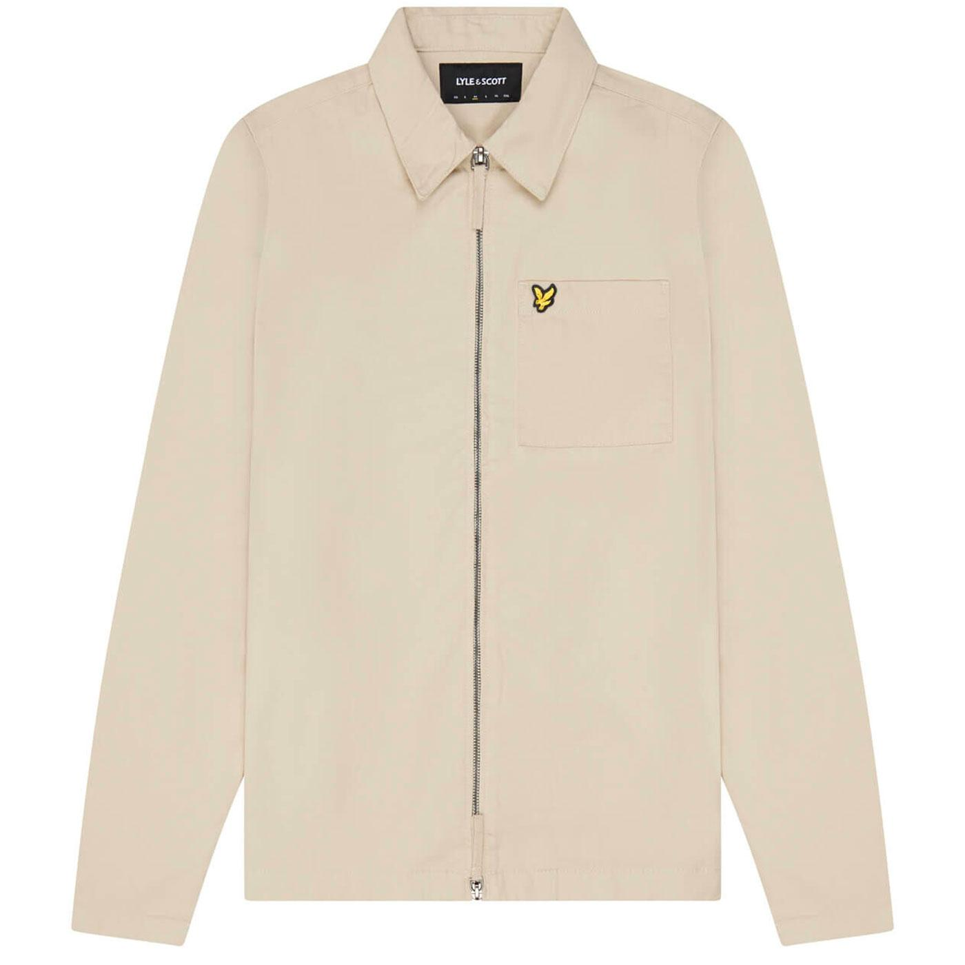 LYLE & SCOTT Retro Mod Zip Through Twill Overshirt