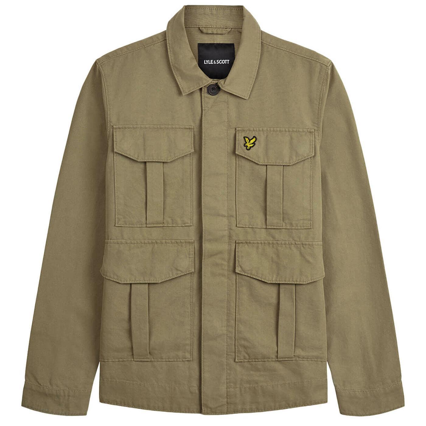 LYLE & SCOTT Mens Retro Military Utility Jacket LG