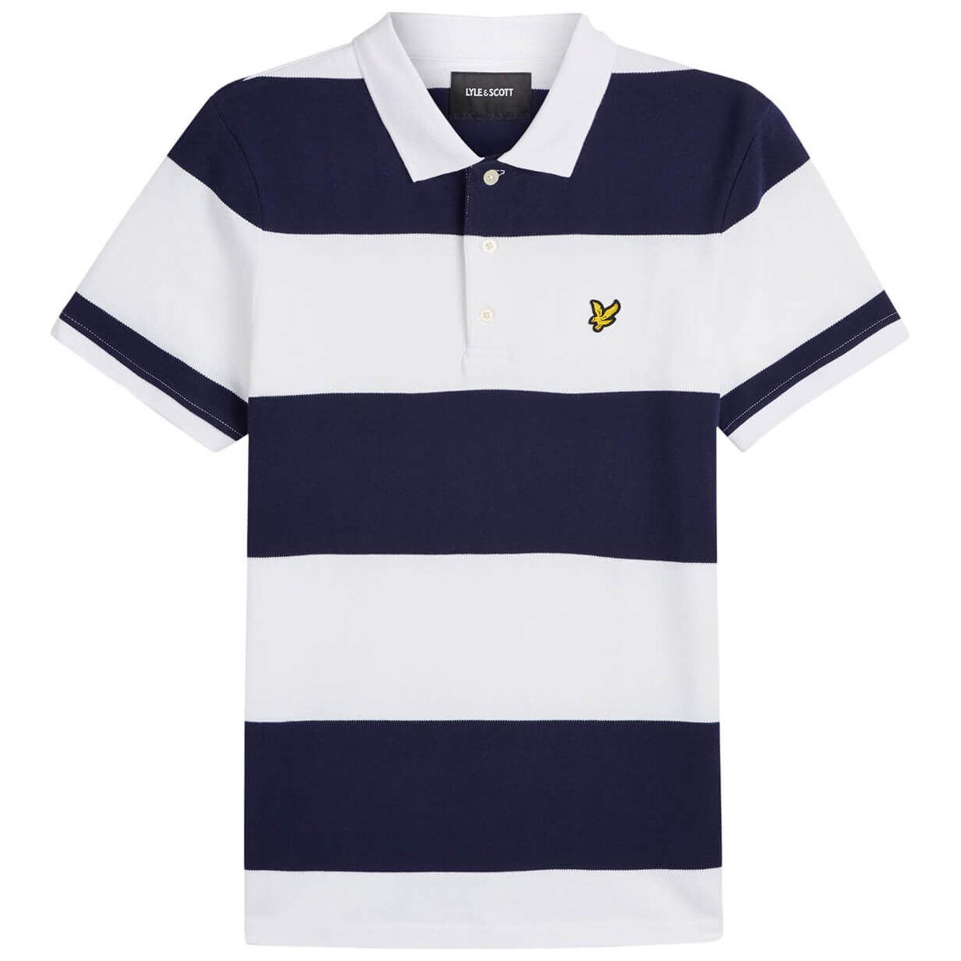 LYLE & SCOTT Retro Wide Stripe Pique Polo Shirt N