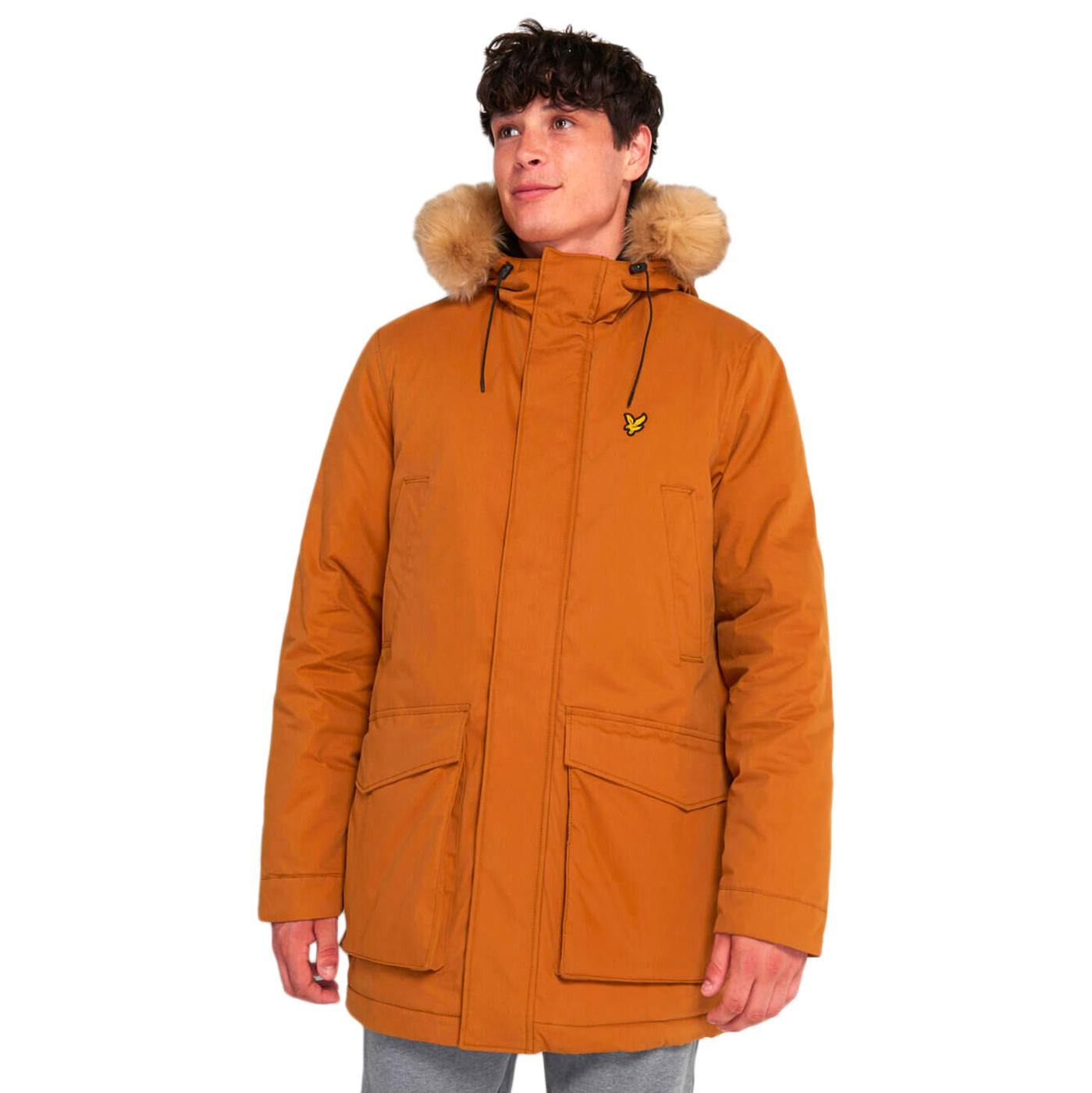 LYLE & SCOTT Mens Retro Mod Winter Parka - Caramel