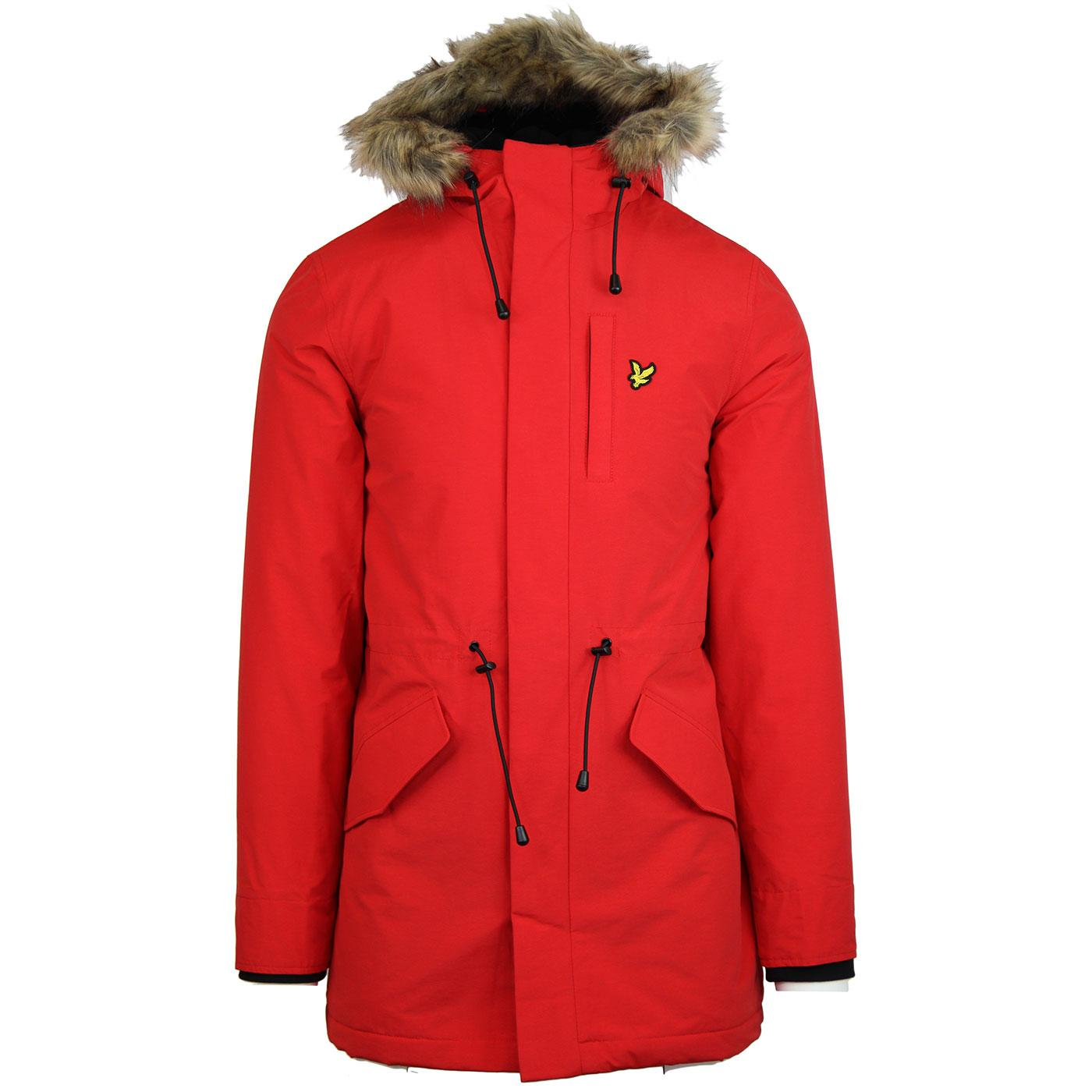 Lyle /& Scott Mens Microfleece Lined Parka