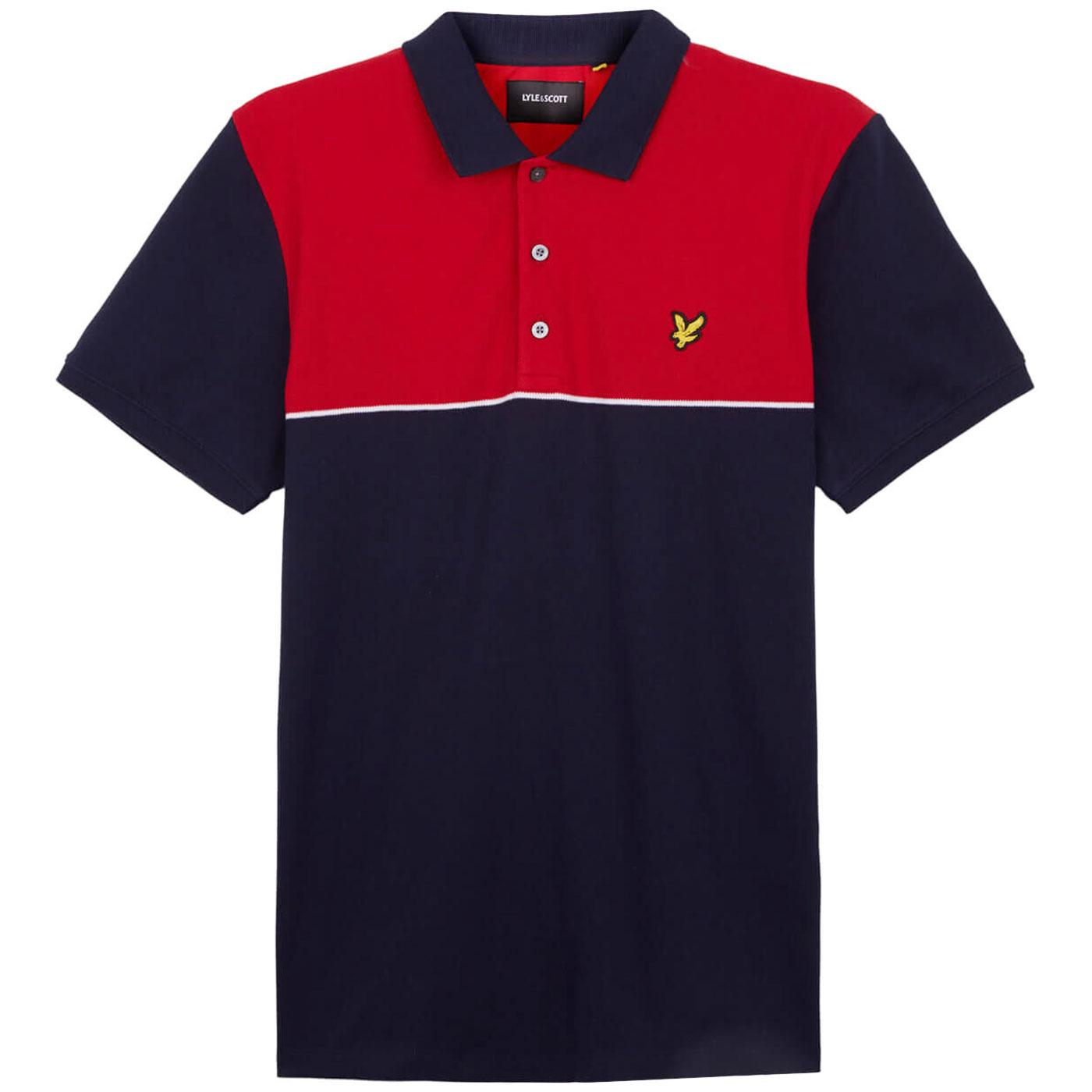 LYLE & SCOTT Yoke Block Stripe Pique Polo Shirt N