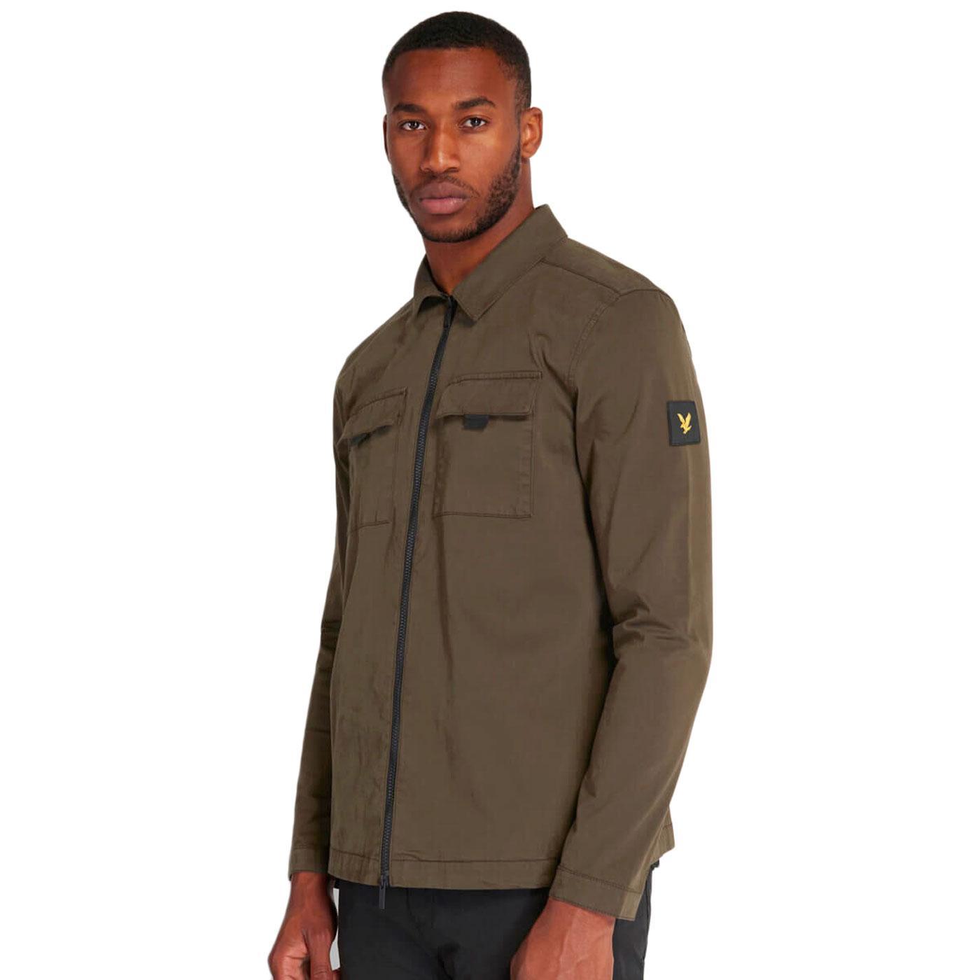 LYLE & SCOTT Mod Casuals Zip Green Army Overshirt