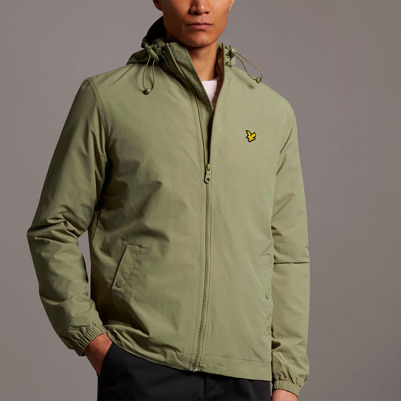 LYLE & SCOTT Zip Through Hooded Jacket (Moss)