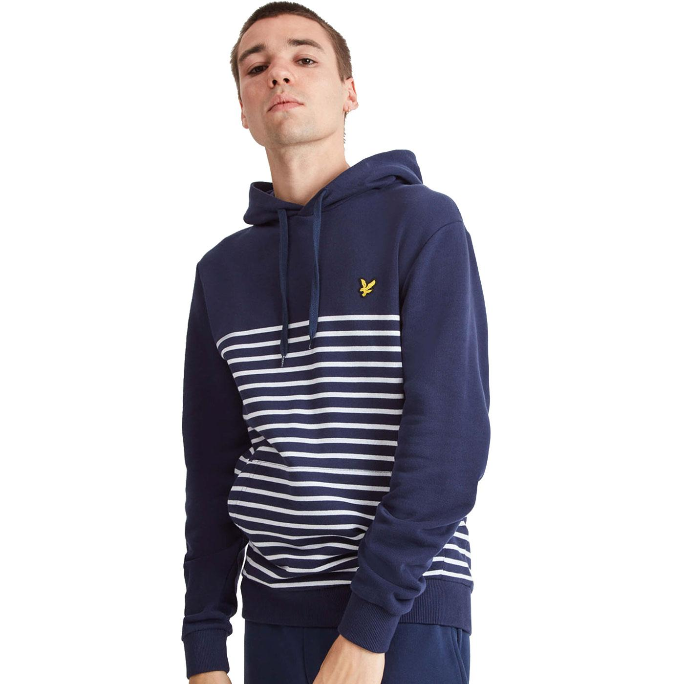 LYLE & SCOTT Retro Indie Breton Stripe Hooded Top