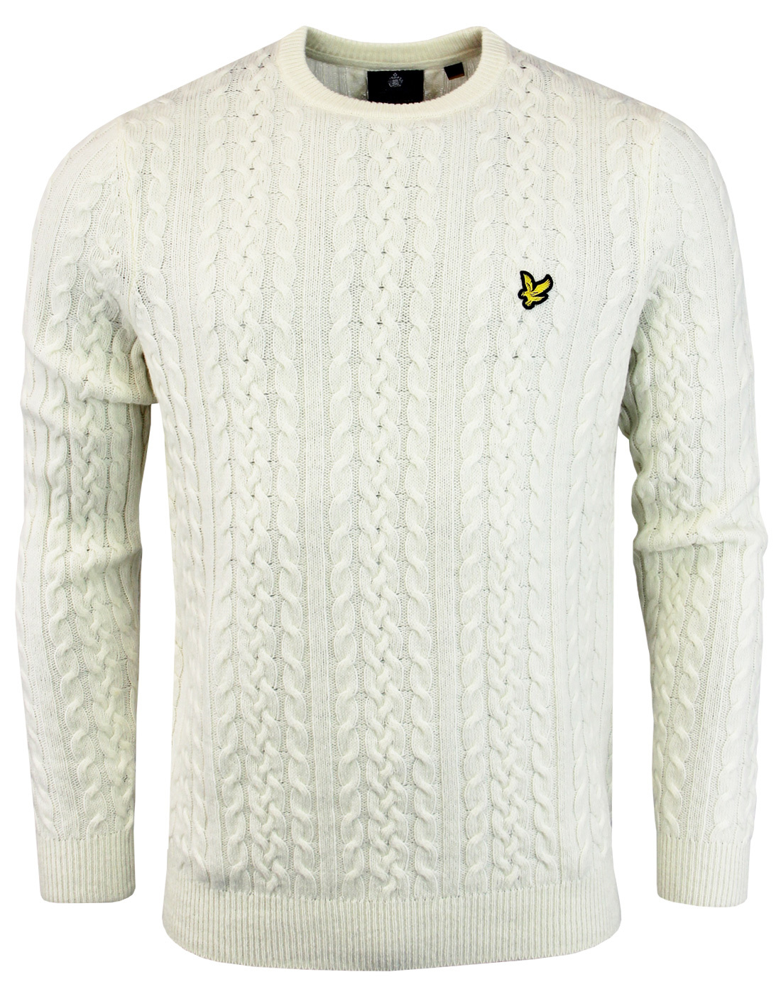 LYLE & SCOTT 60s Mod Lambswool Cable Knit Jumper