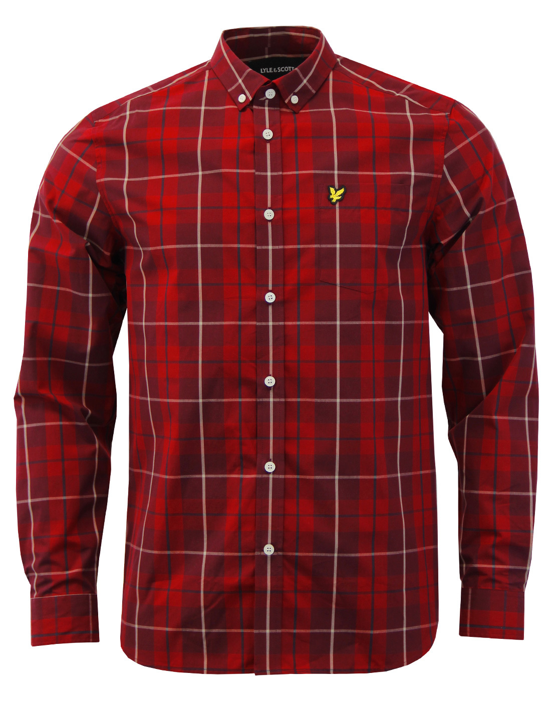 LYLE & SCOTT Mod Button Down Poplin Check Shirt