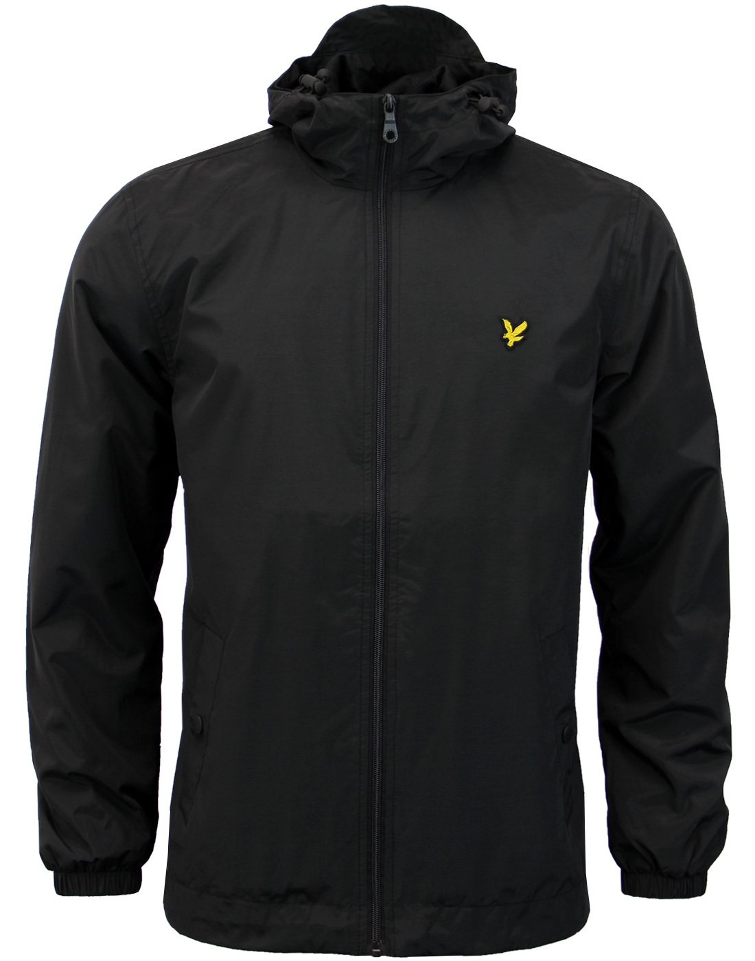 LYLE & SCOTT Retro Zip Through Hooded Jacket BLACK