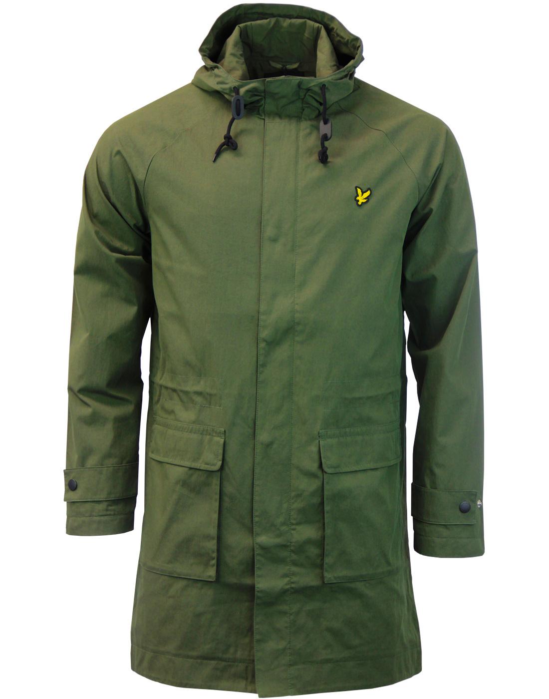 lyle scott 60s mod lightweight parka jacket in dark sage. Black Bedroom Furniture Sets. Home Design Ideas