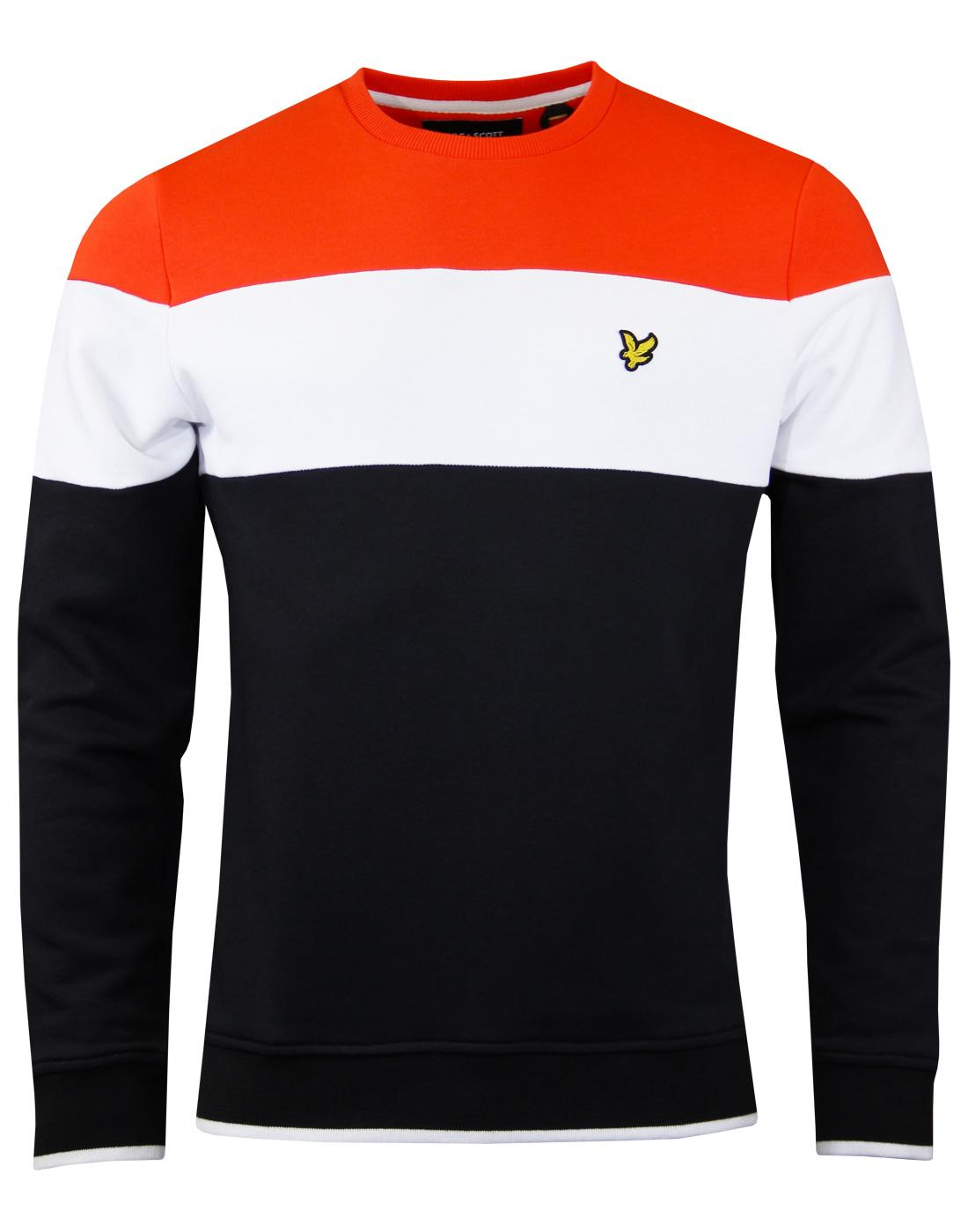 LYLE & SCOTT Retro Colour Block Crew Jumper BLACK