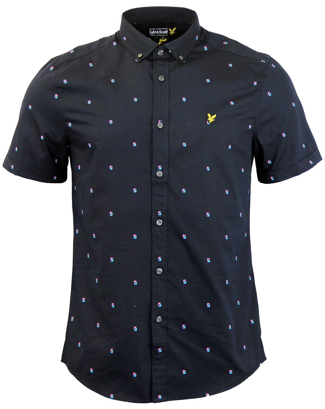 LYLE & SCOTT Mod Micro Split Square Stripe Shirt