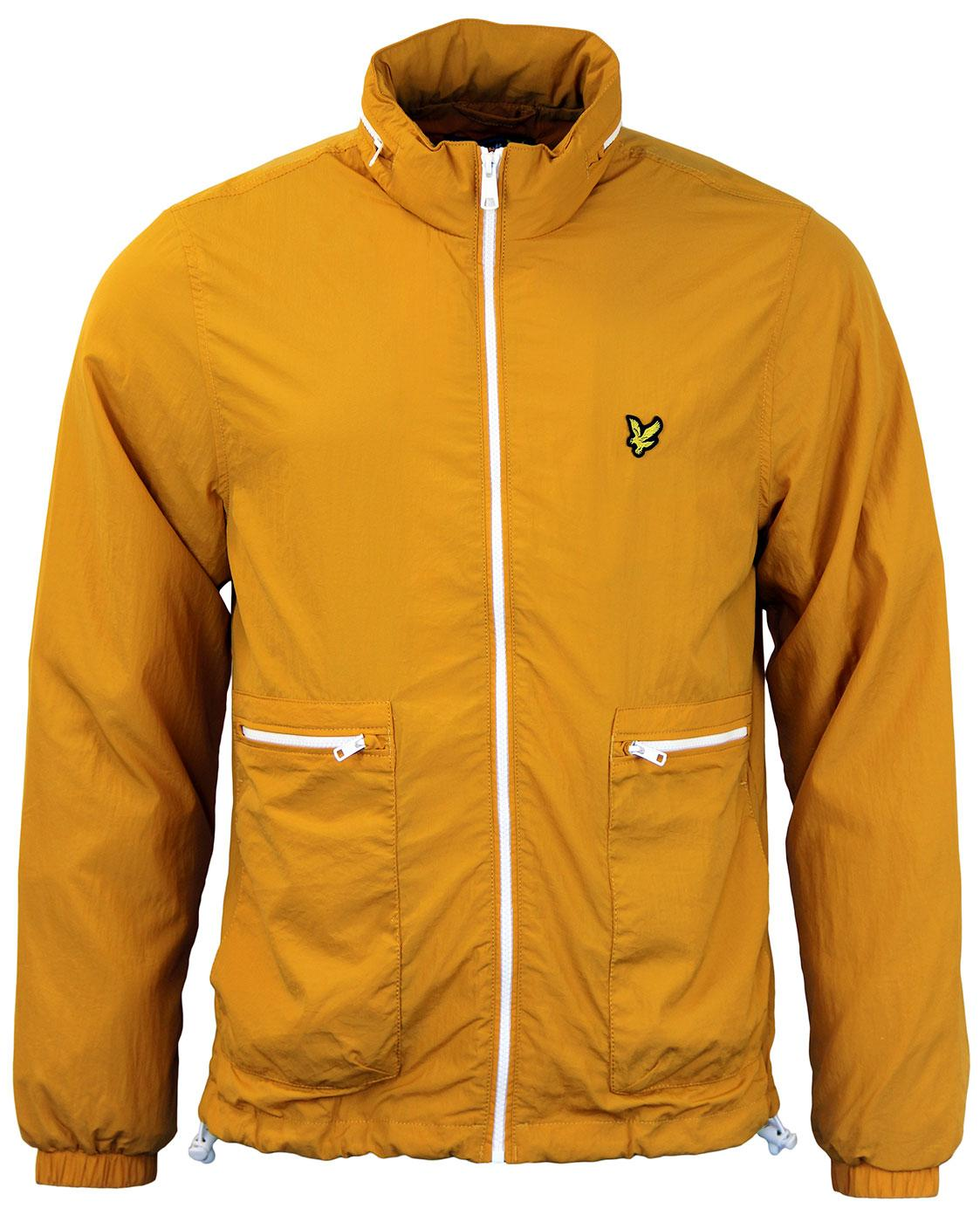 lyle scott retro mod lightweight zip through jacket in gold. Black Bedroom Furniture Sets. Home Design Ideas