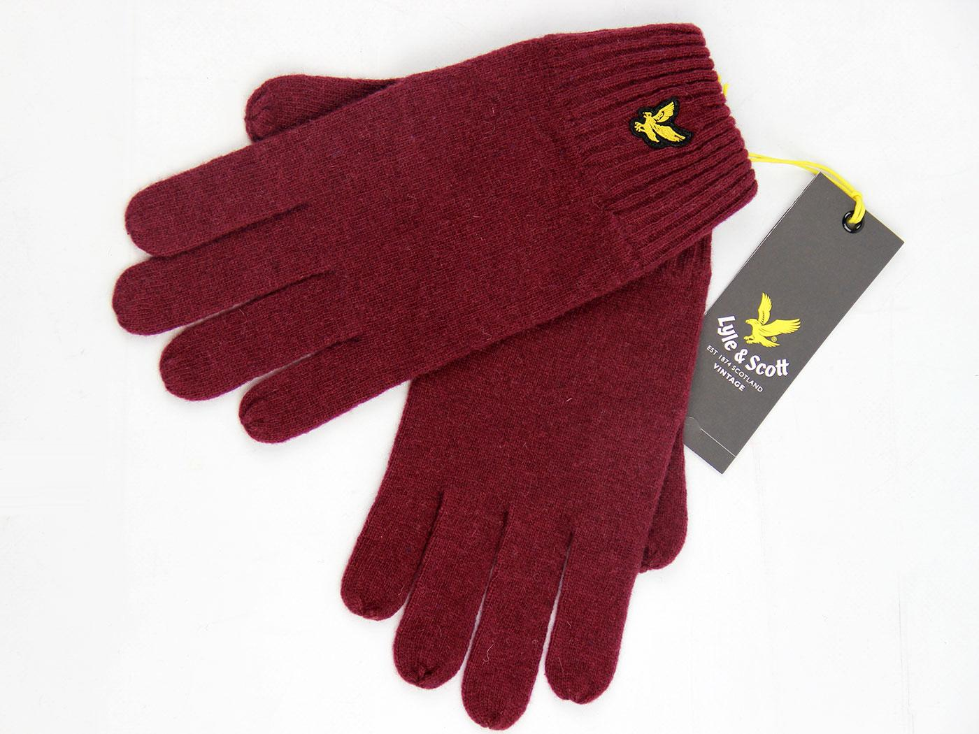 LYLE & SCOTT Retro Plain Lambswool Blend Gloves CJ