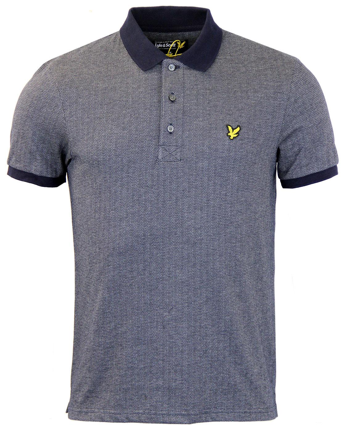 Herringbone LYLE AND SCOTT Retro Mod Polo
