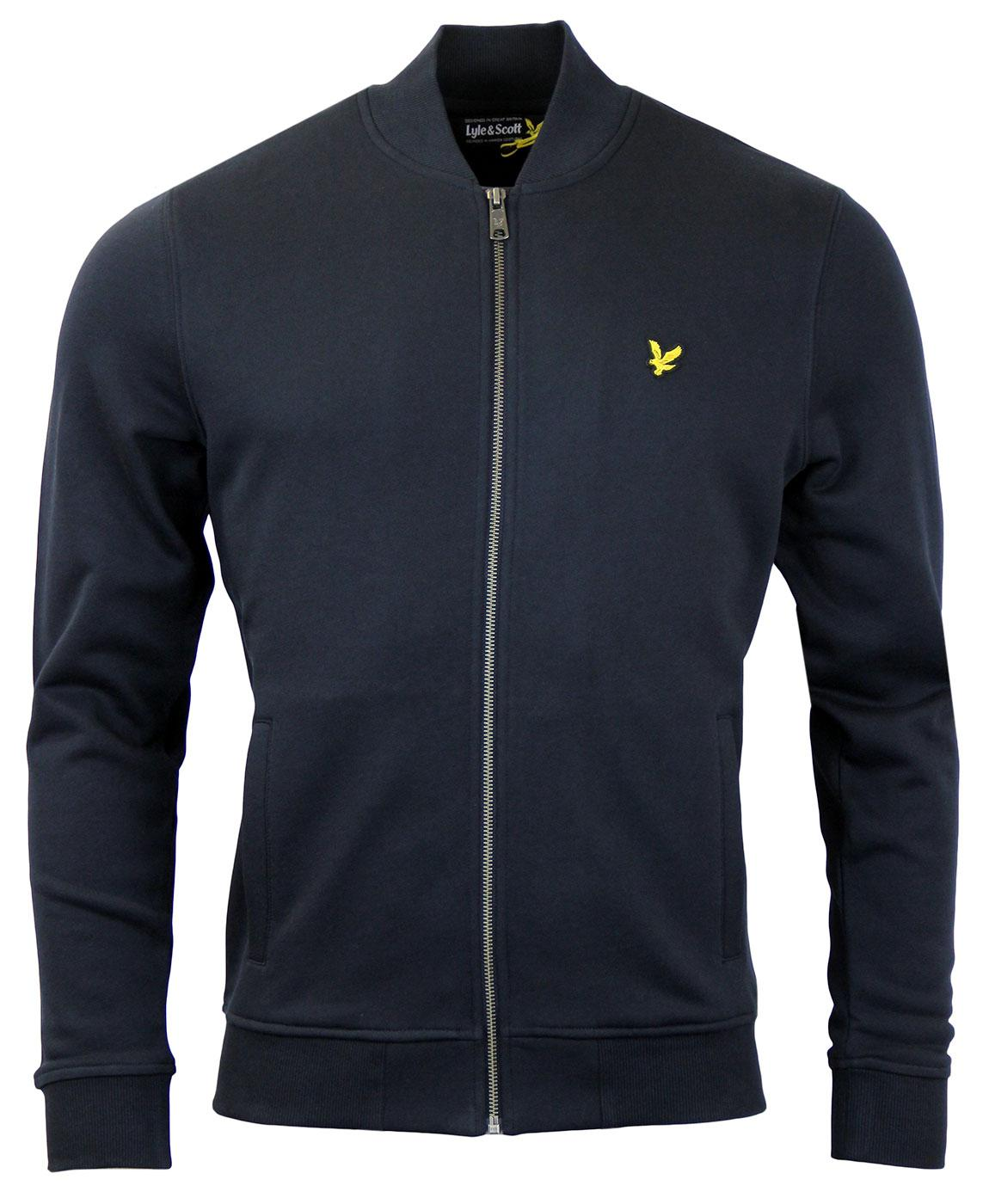 LYLE & SCOTT Retro Zip Thru Sweat Bomber Jacket