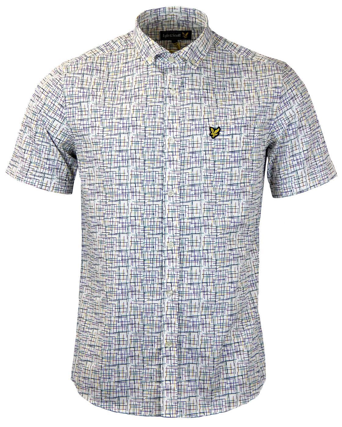 LYLE & SCOTT Mod Button Down Etch Print Shirt