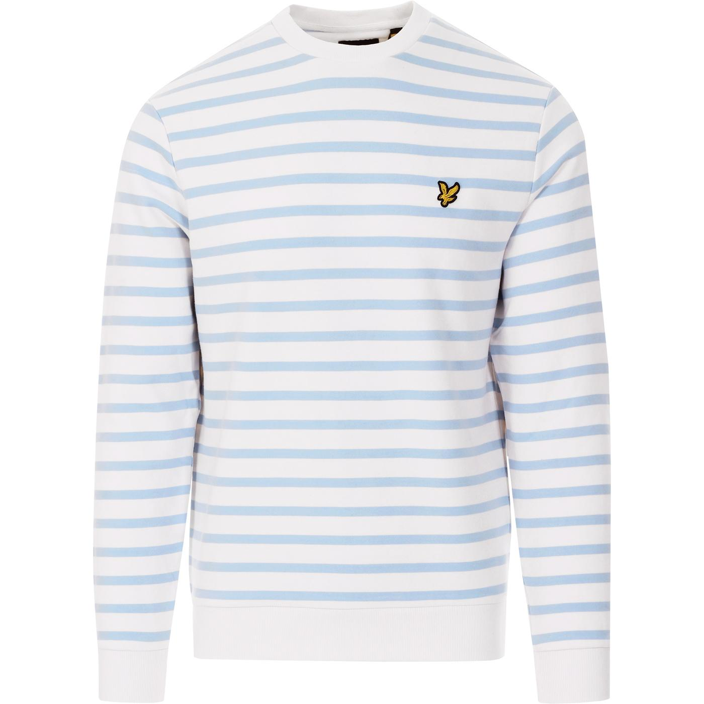 LYLE & SCOTT Retro Mod Breton Stripe Sweatshirt PW