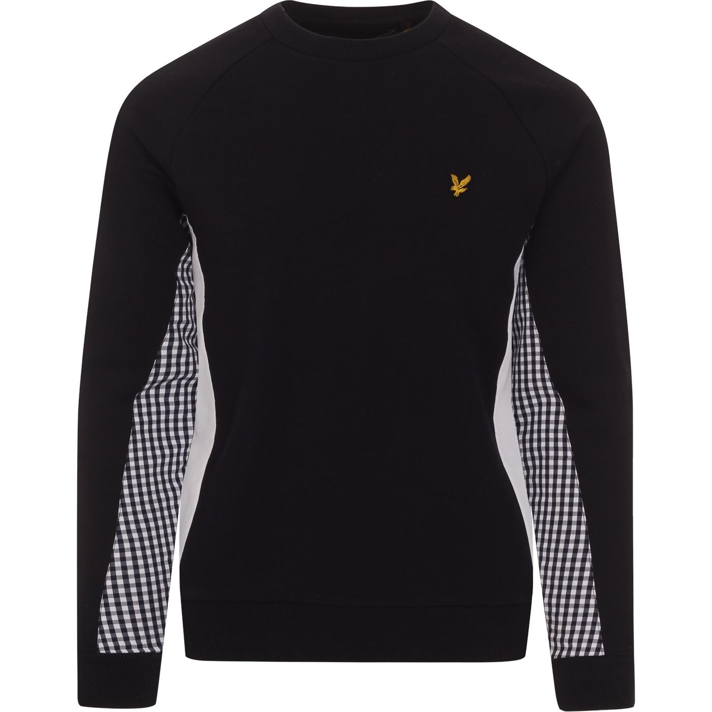 LYLE & SCOTT Retro Gingham Cut & Sew Sweatshirt