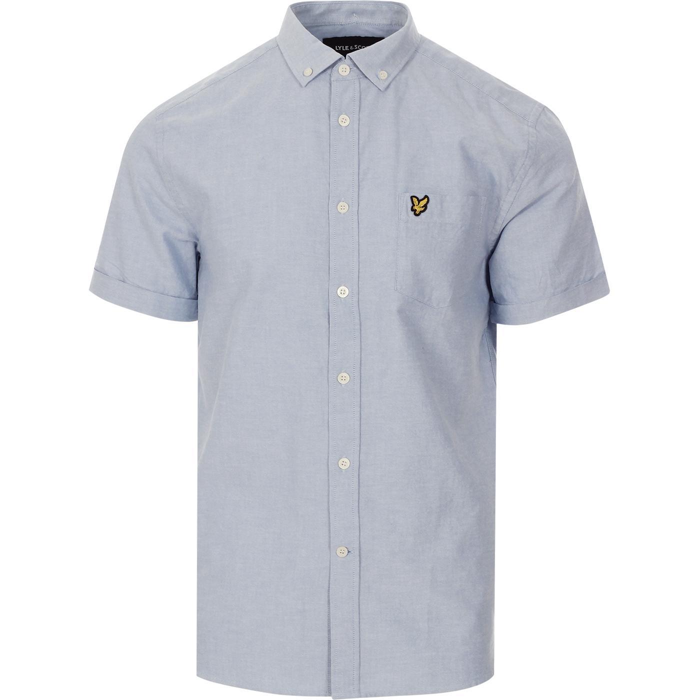 LYLE & SCOTT Men's Retro Mod S/S Oxford Shirt R