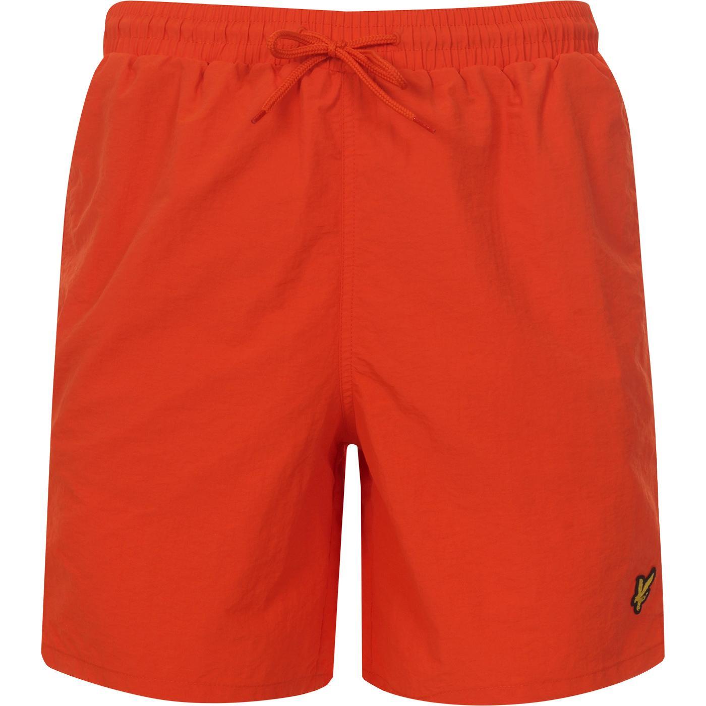 LYLE & SCOTT Mens Plain Retro Swim Shorts (Orange)