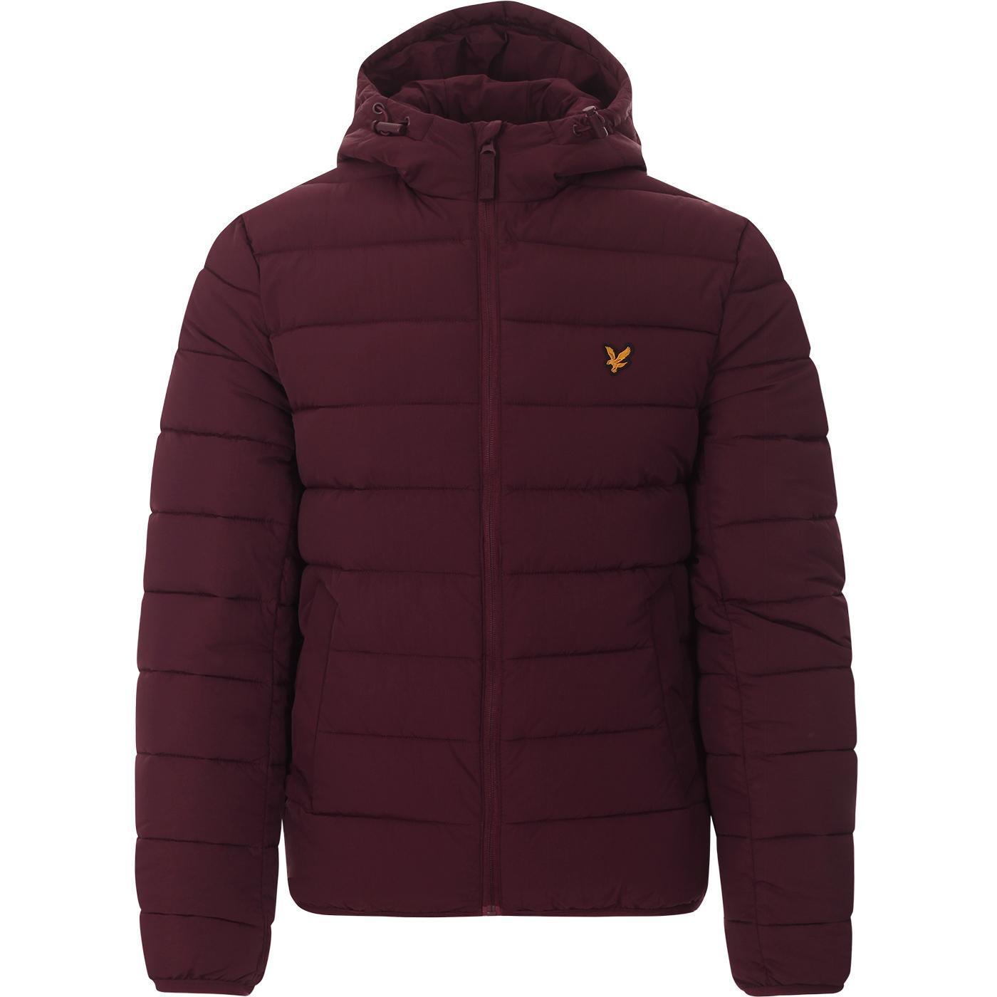 LYLE & SCOTT Lightweight Puffer Jacket (Burgundy)