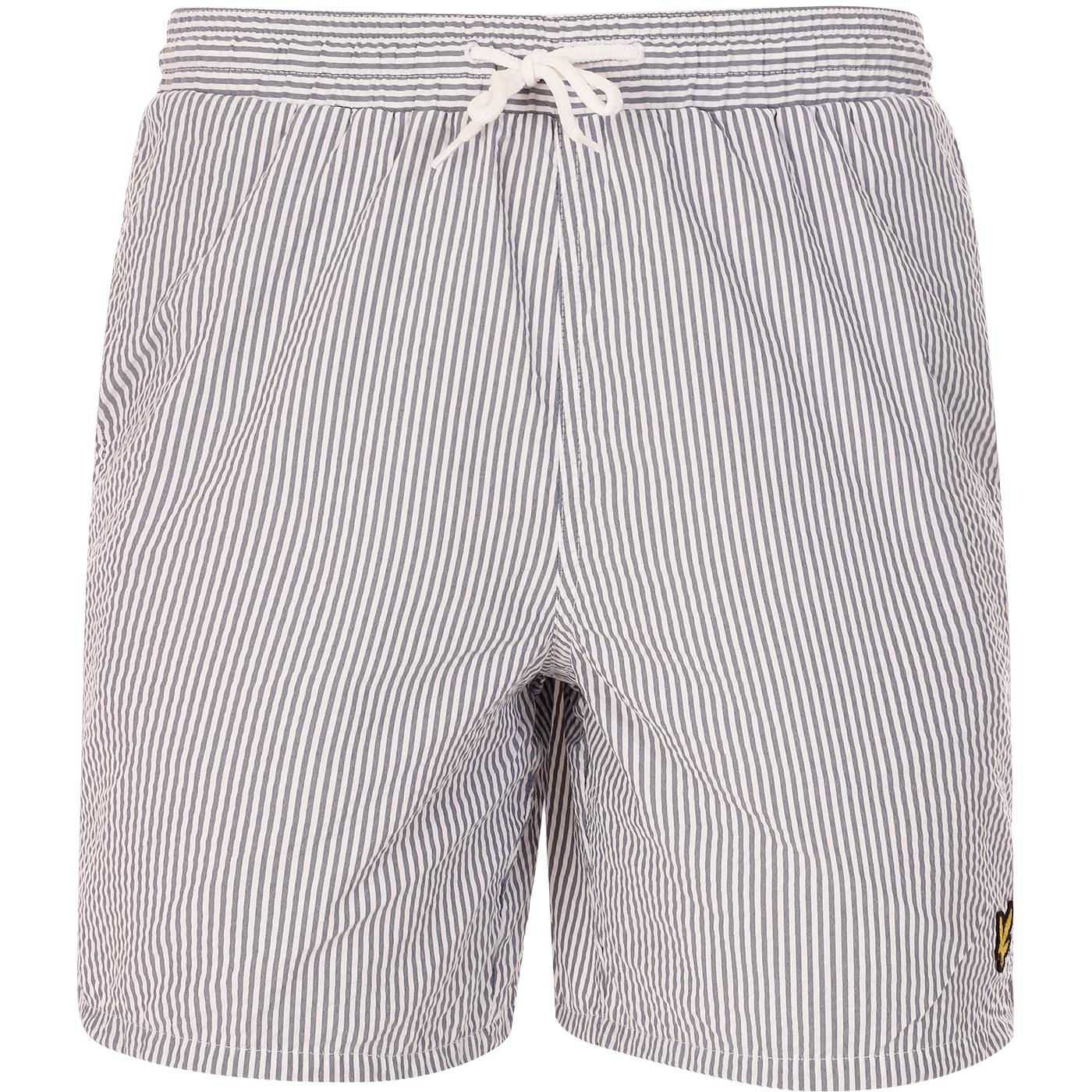 LYLE & SCOTT Retro Seersucker Stripe Swim Shorts