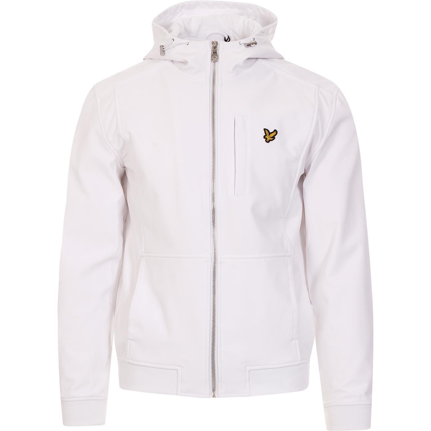 LYLE & SCOTT Retro Hooded Softshell Jacket (White)