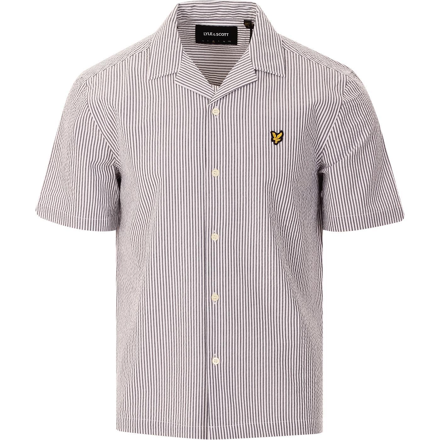 LYLE & SCOTT Retro 50s Seersucker Resort Shirt (N)