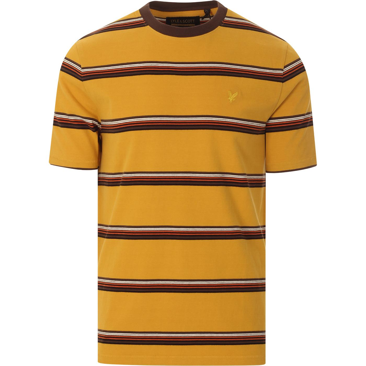 LYLE & SCOTT Retro 70s Multi Stripe T-shirt (A)
