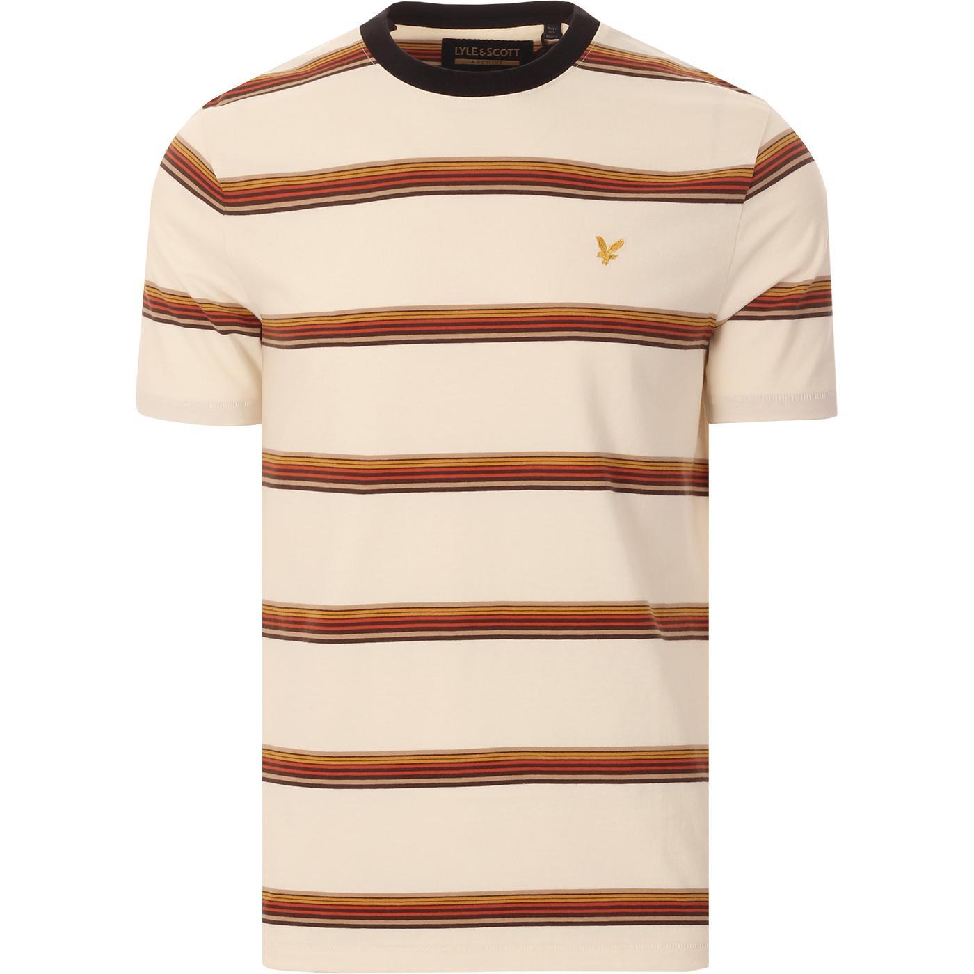 LYLE & SCOTT Retro 70s Multi Stripe T-shirt (VI)