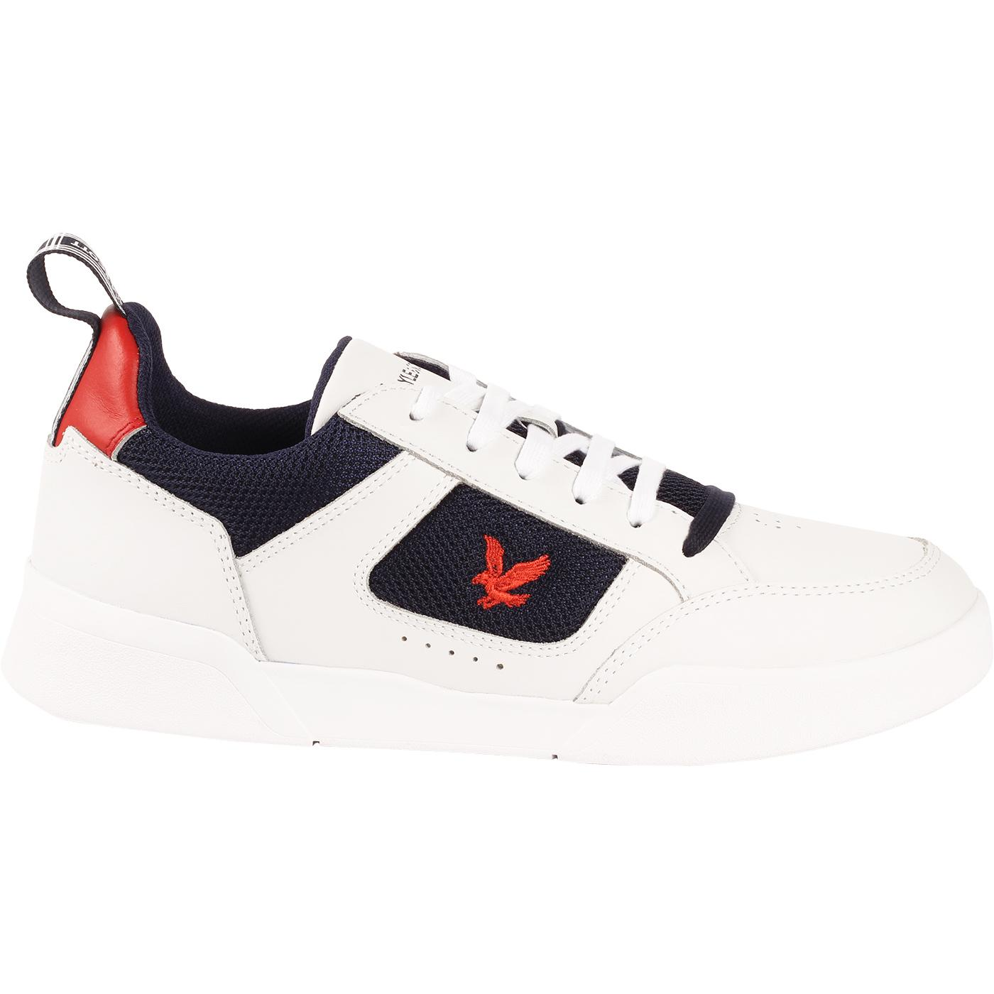Gilzean LYLE AND SCOTT Retro 90s Trainers (White)